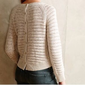 Anthropologie MOTH Hi-Lo Button-Back Sweater